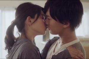 うみちゃんと岡田龍太郎のキスシーン、うみちゃんはファーストキスだった