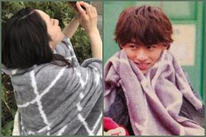 平野紫耀と平祐奈のお揃い匂わせ毛布