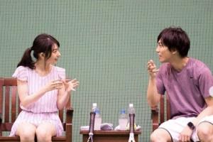 テニスデートをするうみちゃんと岡田龍太郎