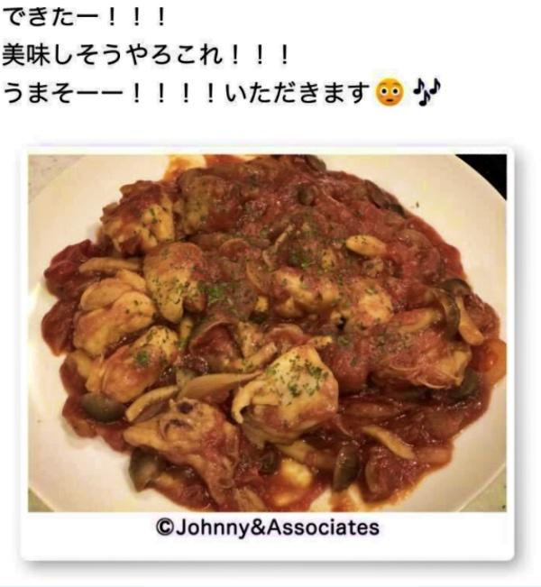 濱田崇裕がブログに載せた手料理画像