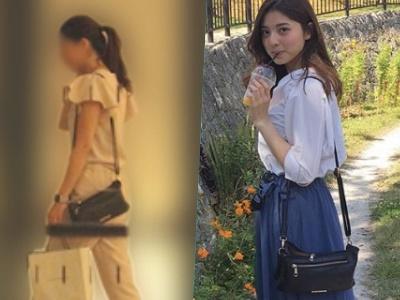 櫻井翔とスクープされた女性と天野一菜の私物が一致:黒のショルダーバッグ