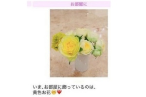 伊藤綾子の匂わせ:二宮和也がもらった花を部屋に飾っている?