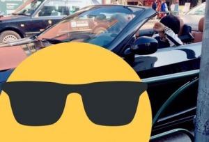 平野紫耀のオープンカー