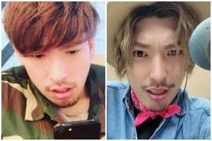 りんたろーの顔の大きさ比較・左側:2017年10月頃、右側:2020年3月頃