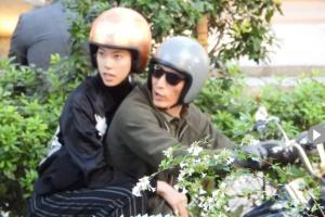 表参道のGUCCIで買い物デートを楽しんだ伊勢谷友介と森星